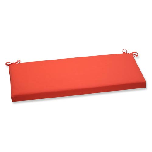 Pillow Perfect Canvas Orange Bench Cushion with Sunbrella Fabric
