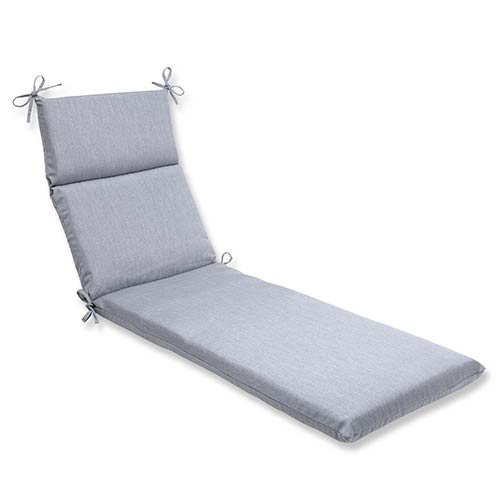 Pillow Perfect Canvas Granite Outdoor Chaise Lounge Cushion with Sunbrella Fabric