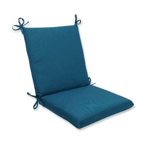 Pillow Perfect Spectrum Blue Squared Corner Chair Cushion with Sunbrella Fabric