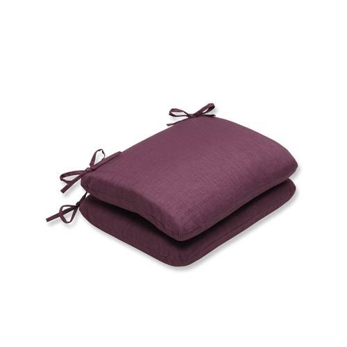 Rave Vineyard Purple Outdoor Rounded Corner Seat Cushion, Set of 2