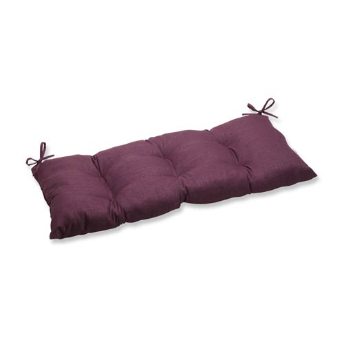 Pillow Perfect Rave Vineyard Purple Outdoor Wrought Iron Loveseat Cushion