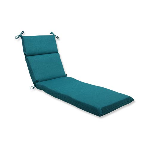 Rave Teal Green Outdoor Chaise Lounge Cushion