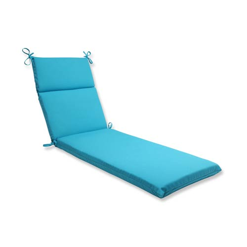 Veranda Blue Outdoor Chaise Lounge Cushion