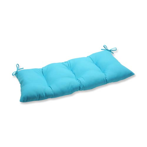 Veranda Blue Outdoor Wrought Iron Loveseat Cushion