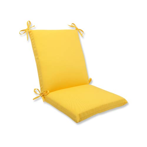 Fresco Yellow Outdoor Squared Corner Chair Cushion
