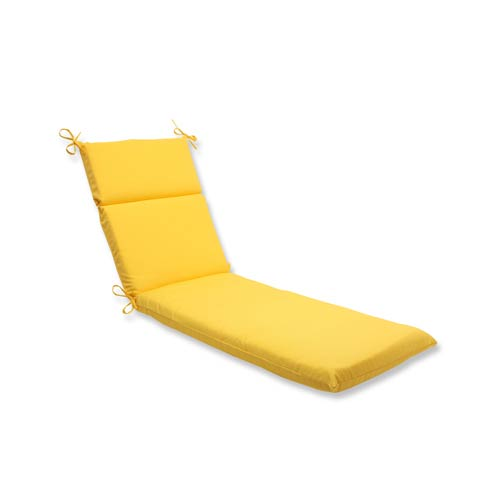 Pillow Perfect Fresco Yellow Outdoor Chaise Lounge Cushion