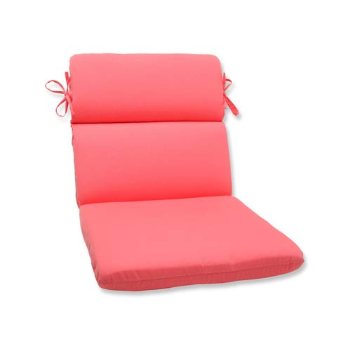 Fresco Pink Outdoor Rounded Corner Chair Cushion