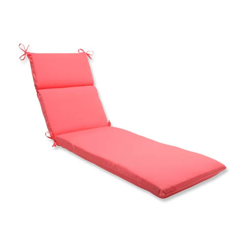 Fresco Pink Outdoor Chaise Lounge Cushion
