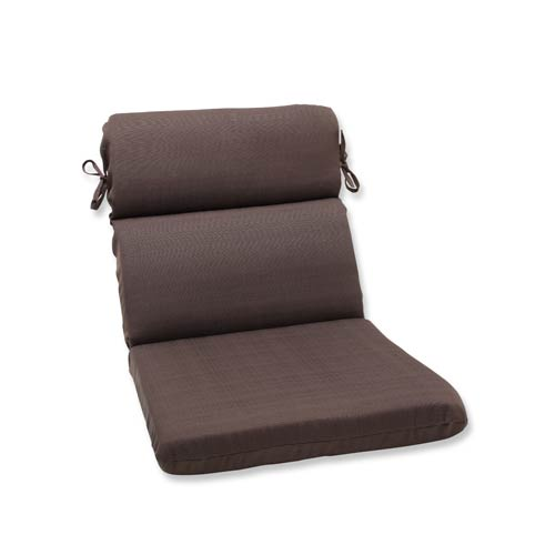 Pillow Perfect Forsyth Brown Outdoor Rounded Corner Chair Cushion
