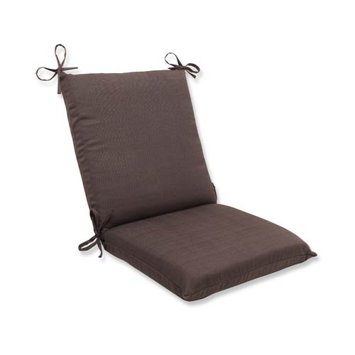 Pillow Perfect Forsyth Brown Outdoor Squared Corner Chair Cushion