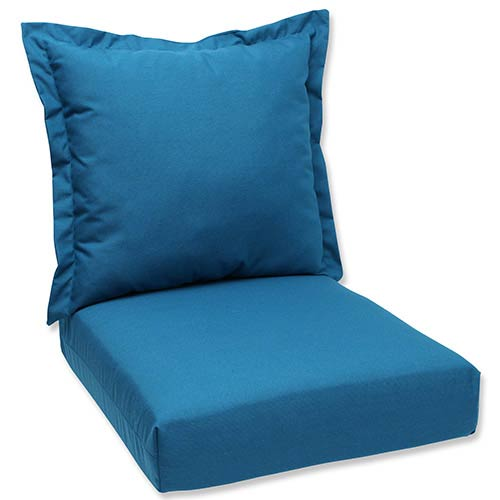 Spectrum Peacock Outdoor Deep Seating Cushion and Back Pillow with Sunbrella Fabric