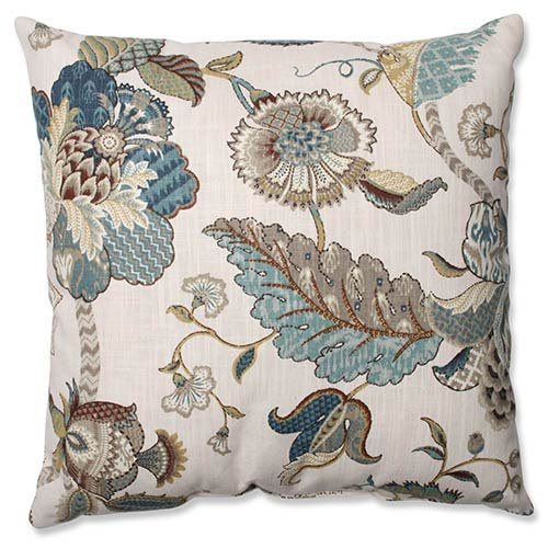 Pillow Perfect Finders Keepers Blue 18-Inch Square Throw Pillow