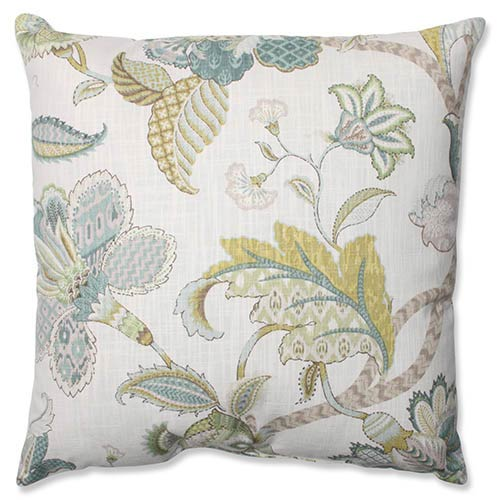 Finders Keepers Peacock Blue 18-Inch Square Throw Pillow