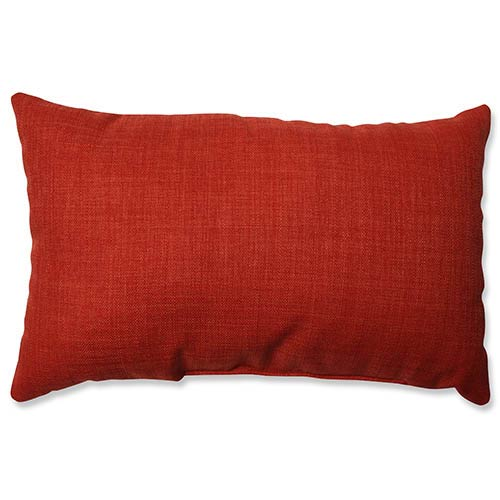 Pure Shock Red Rectangular Throw Pillow