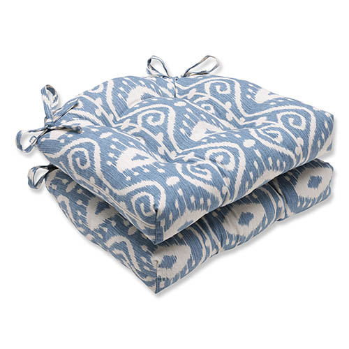Empire Yacht Blue Reversible Chair Pad, Set of 2