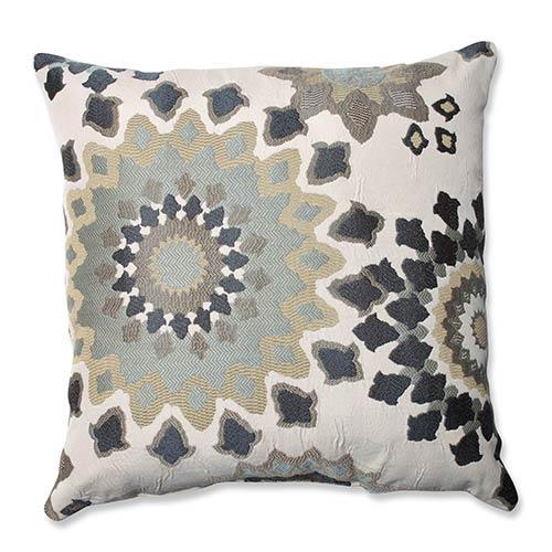 Marais English Garden Blue 18-Inch Square Throw Pillow