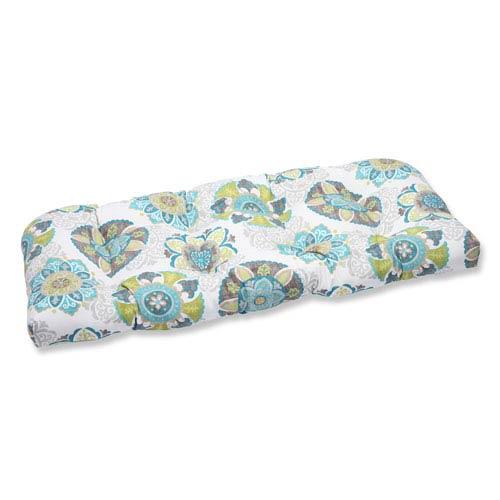 Pillow Perfect Allodala Oasis Wicker Outdoor Loveseat Cushion