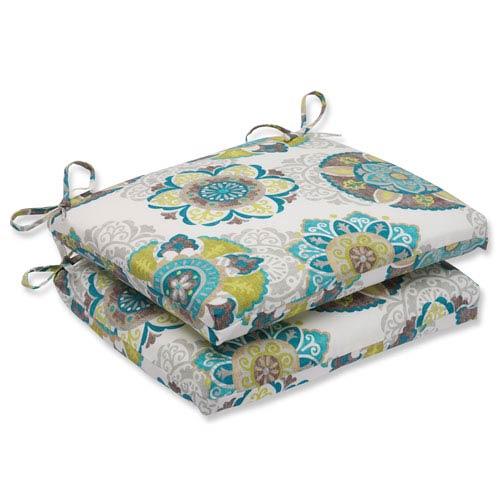 Pillow Perfect Allodala Oasis Squared Corners Outdoor Seat Cushion, Set of 2