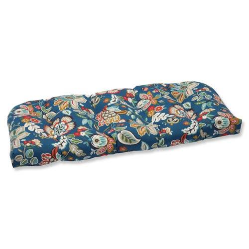 Telfair Peacock Wicker Outdoor Loveseat Cushion