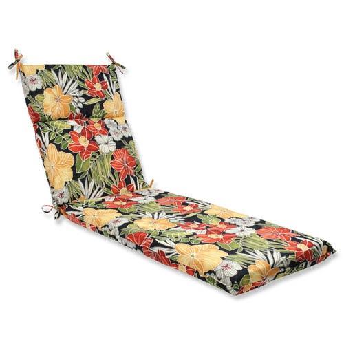 Clemens Noir Outdoor Chaise Lounge Cushion