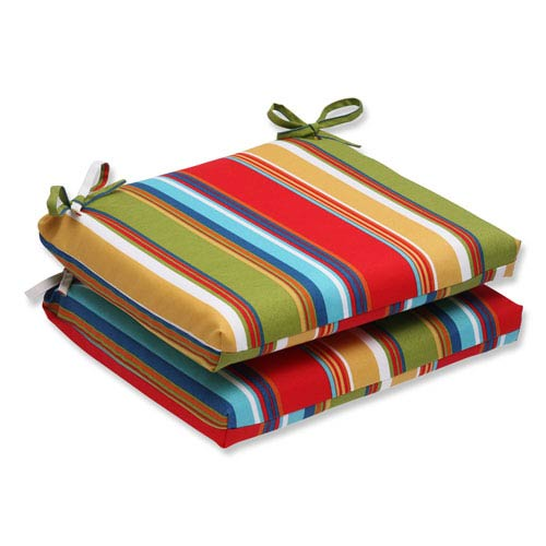 Pillow Perfect Westport Garden Squared Corners Outdoor Seat Cushion, Set of 2