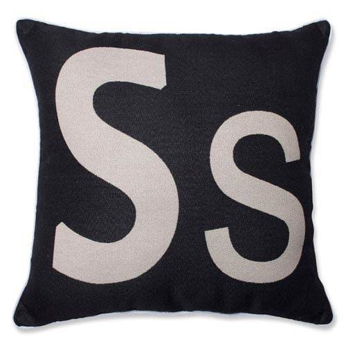 Pillow Perfect Initial S 18-inch Throw Pillow