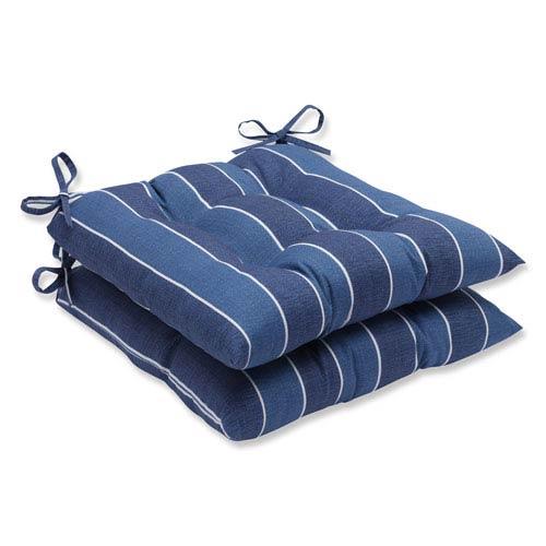 Wickenburg Indigo Wrought Iron Outdoor Seat Cushion, Set of 2