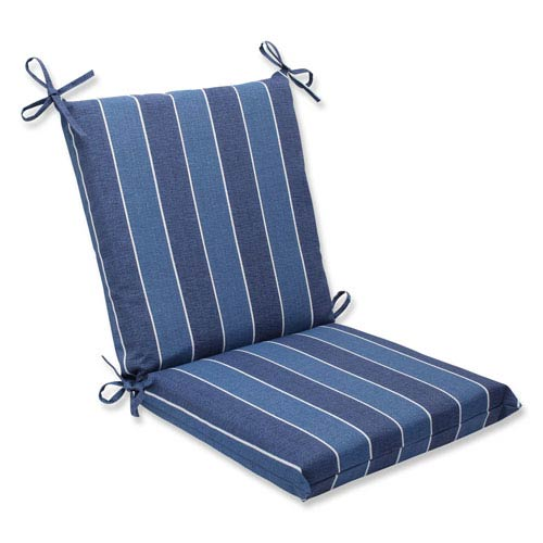 Pillow Perfect Wickenburg Indigo Squared Corners Outdoor Chair Cushion Cushion