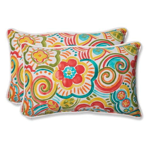 Bronwood Carnival Rectangular Outdoor Throw Pillow, Set of 2