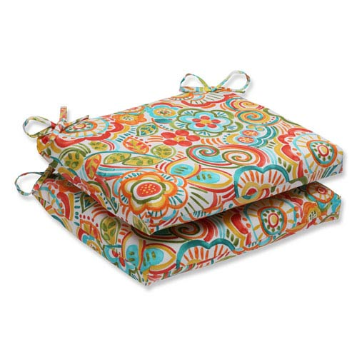 Bronwood Carnival Squared Corners Outdoor Seat Cushion, Set of 2