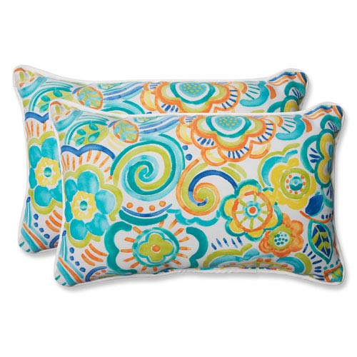 Bronwood Caribbean Rectangular Outdoor Throw Pillow, Set of 2