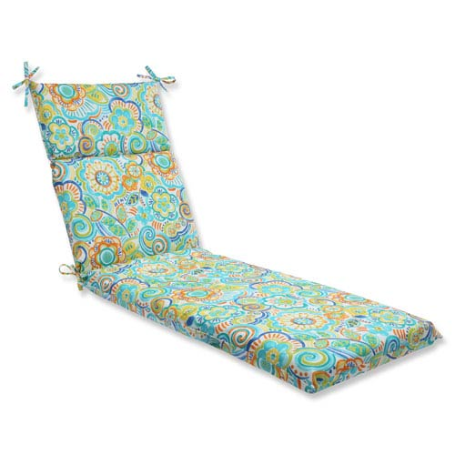 Pillow Perfect Bronwood Caribbean Outdoor Chaise Lounge Cushion