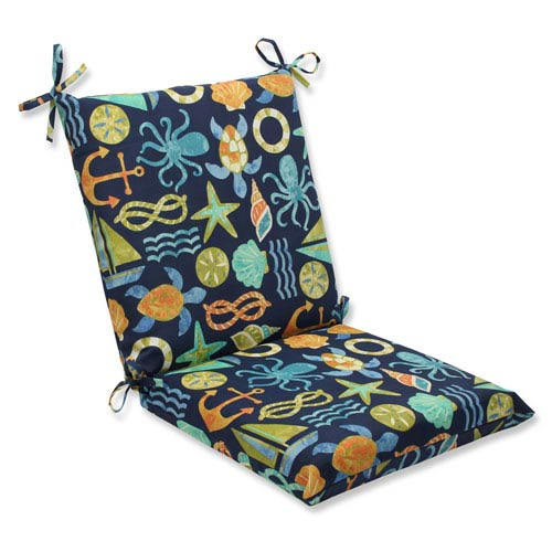 Pillow Perfect Seapoint Neptune Squared Corners Outdoor Chair Cushion Cushion