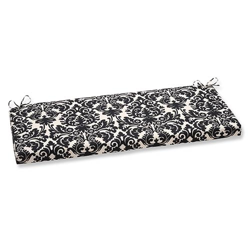 Pillow Perfect Essence Black and Beige Outdoor Bench Cushion