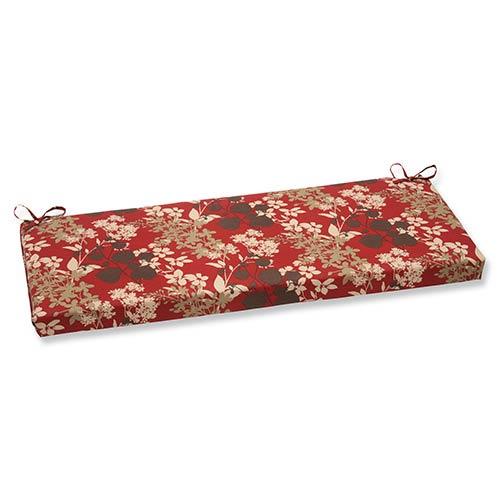 Montifleuri Red Outdoor Bench Cushion