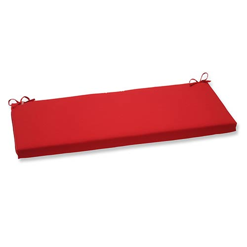 Pompeii Red Outdoor Bench Cushion
