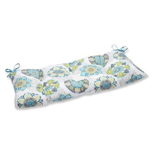 Pillow Perfect Allodala Oasis Wrought Iron Outdoor Loveseat Cushion