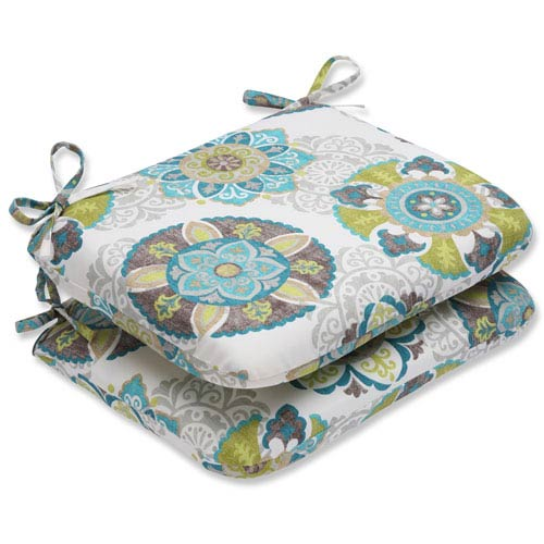 Allodala Oasis Rounded Corners Outdoor Seat Cushion, Set of 2