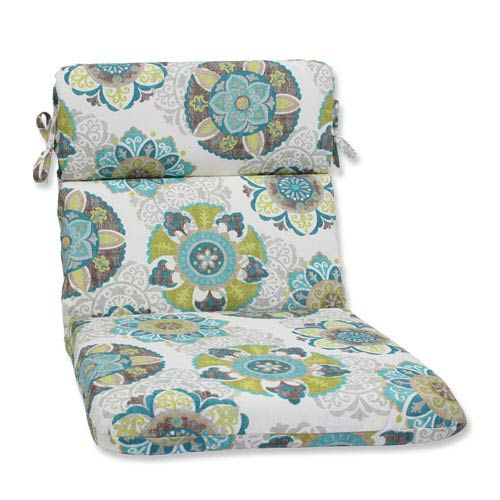 Pillow Perfect Allodala Oasis Rounded Corners Outdoor Chair Cushion Cushion