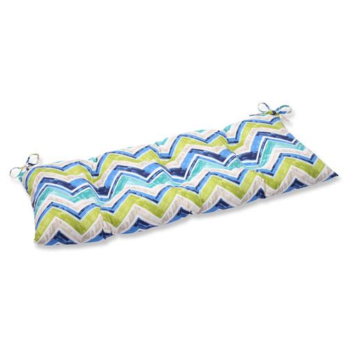 Pillow Perfect Marquesa Marine Wrought Iron Outdoor Loveseat Cushion
