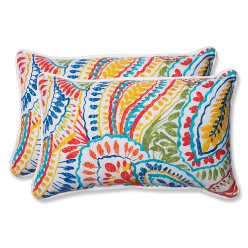 Ummi Multicolor Rectangular Outdoor Throw Pillow, Set of 2