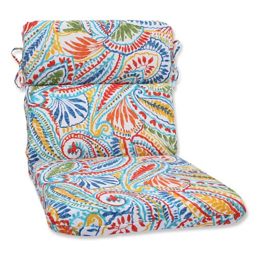 Pillow Perfect Ummi Multicolor Rounded Corners Outdoor Chair Cushion Cushion