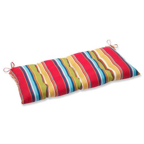 Pillow Perfect Westport Garden Wrought Iron Outdoor Loveseat Cushion