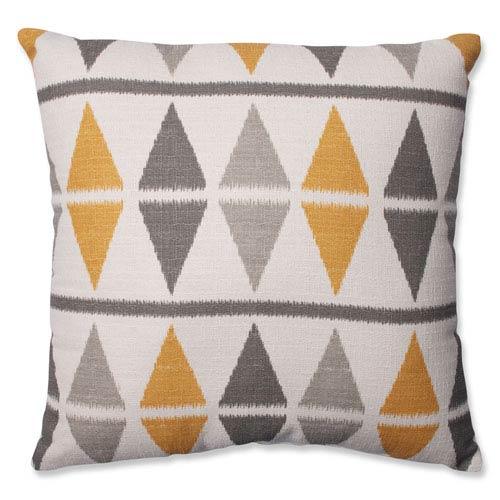 Ikat Argyle Birch 18-Inch Throw Pillow