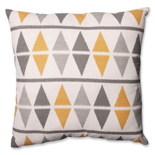 Ikat Argyle Birch 24.5-inch Floor Pillow