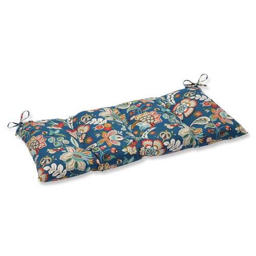 Pillow Perfect Telfair Peacock Wrought Iron Outdoor Loveseat Cushion