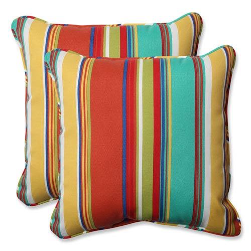 Westport Spring 18.5-Inch Outdoor Throw Pillow, Set of 2