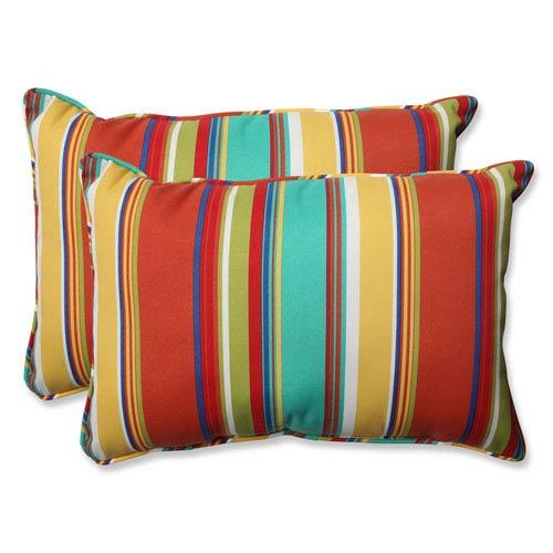 Westport Spring Over-sized Rectangular Outdoor Throw Pillow, Set of 2