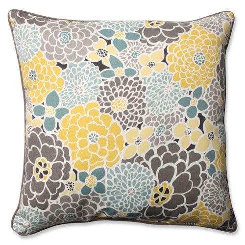 Lois Vapor Blue 25-inch Outdoor Floor Pillow