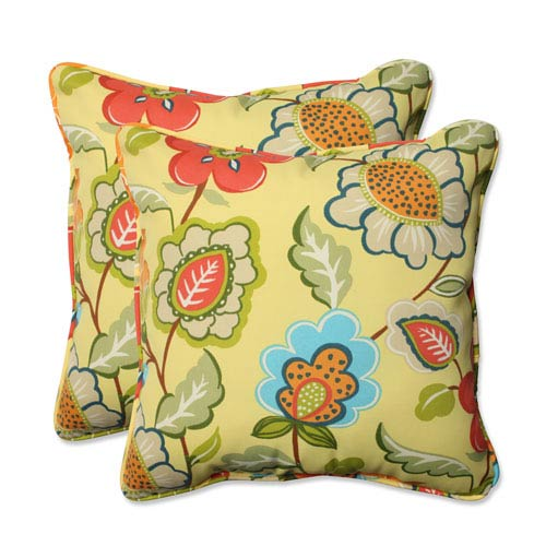Outdoor Timmo Sunshine 18.5-inch Throw Pillow, Set of 2